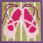 click here to view larger image of Ballet Slippers (needlepoint kits)