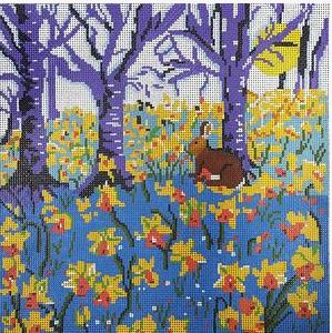 click here to view larger image of Daffodil Woods (hand painted canvases)