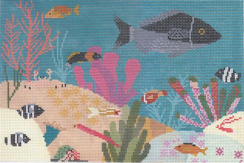 click here to view larger image of Aquarium (hand painted canvases)