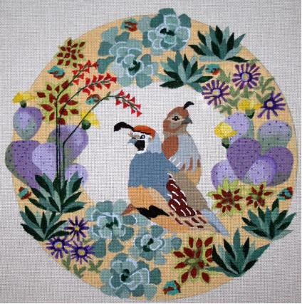 Quail in Desert Wreath - click here for more details