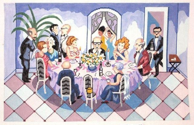 click here to view larger image of Dinner Party (hand painted canvases)