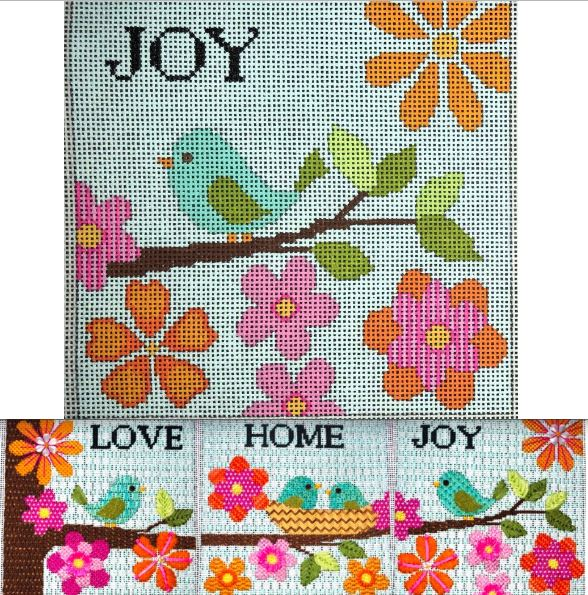 click here to view larger image of Bird on a Branch - Joy (hand painted canvases)