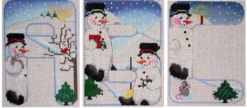 click here to view larger image of Alpha Snowmen Alphabet (hand painted canvases)