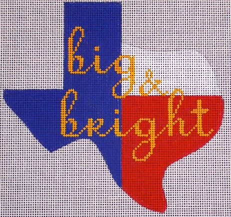 click here to view larger image of Big & Bright - Texas State Ornament (hand painted canvases)