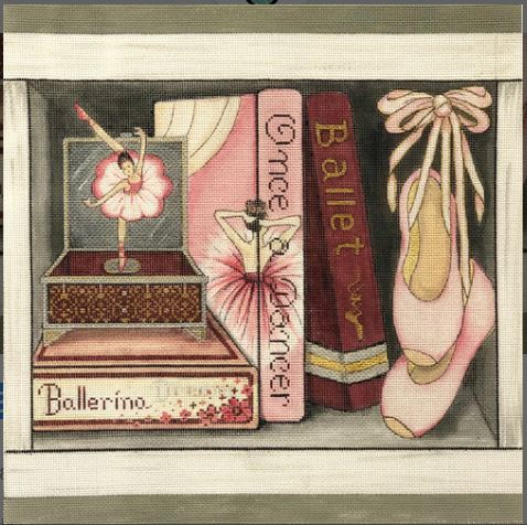 click here to view larger image of Ballet Book Nook (hand painted canvases)