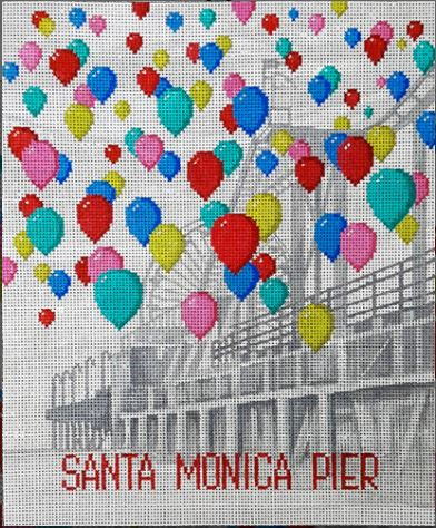 click here to view larger image of Santa Monica Pier and Balloons (hand painted canvases)