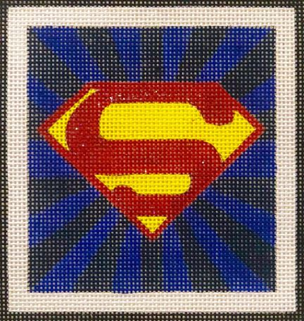 click here to view larger image of Superman Emblem (hand painted canvases)