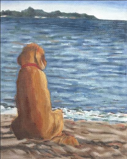 click here to view larger image of Wet Dog (hand painted canvases)