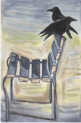 click here to view larger image of Crows on Beach (hand painted canvases)