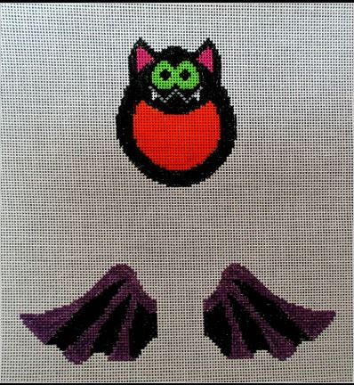 click here to view larger image of Bat Ornament (hand painted canvases)