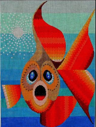 click here to view larger image of Goldfish (hand painted canvases)