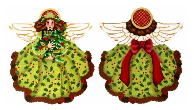 click here to view larger image of Holly Tree Top Angel (hand painted canvases)