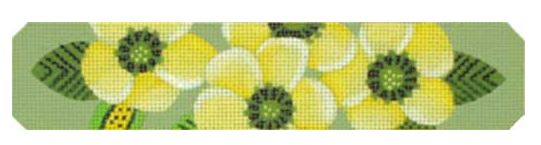 click here to view larger image of Yellow Blossoms Bracelet (hand painted canvases)