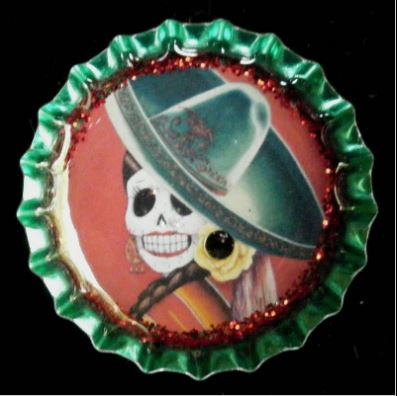 click here to view larger image of Rosa Bottlecap Magnet (accessories)