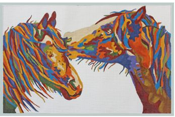 click here to view larger image of My Secret - Colorful Horses (hand painted canvases)