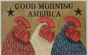 click here to view larger image of Good Morning America (hand painted canvases)