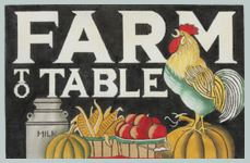 click here to view larger image of Farm to Table (hand painted canvases)