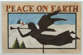 click here to view larger image of Peace on Earth Weather Vane (hand painted canvases)
