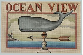 click here to view larger image of Ocean View Weather Vane (hand painted canvases)