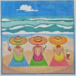 click here to view larger image of Day at the Beach (hand painted canvases)