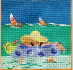 click here to view larger image of Beach Side Cocktails - Floating Comfort (hand painted canvases)