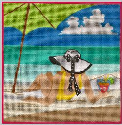 click here to view larger image of Beach Side Cocktails - Lifes A Beach (hand painted canvases)