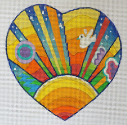 click here to view larger image of Lonely Hearts Club - Sunshine (hand painted canvases)