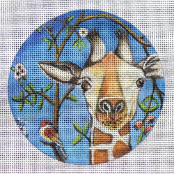 click here to view larger image of Curious Giraffe Ornament (hand painted canvases)