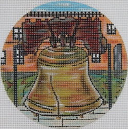 click here to view larger image of Liberty Bell Ornament (hand painted canvases)