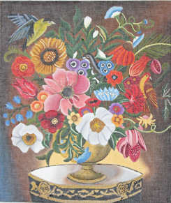 click here to view larger image of Primavera Floral   (hand painted canvases)