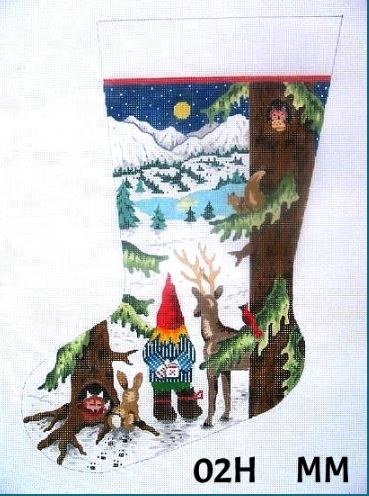 click here to view larger image of Boy Gnome with Forest Animals (hand painted canvases)