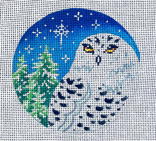 click here to view larger image of Snow Owl & Fir Trees (hand painted canvases)