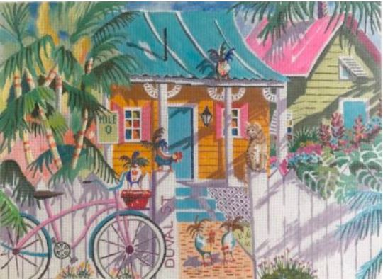 click here to view larger image of Key Lime Cottage (hand painted canvases)