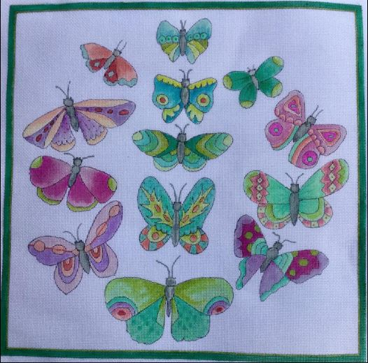 click here to view larger image of Butterfly Fantasy (hand painted canvases)