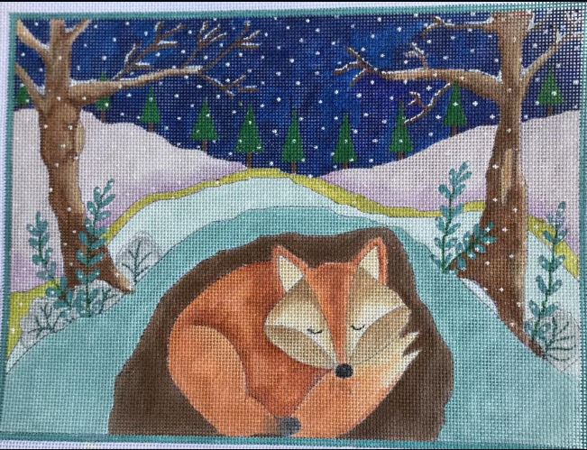 click here to view larger image of A Long Winter�s Nap -The Fox (hand painted canvases)