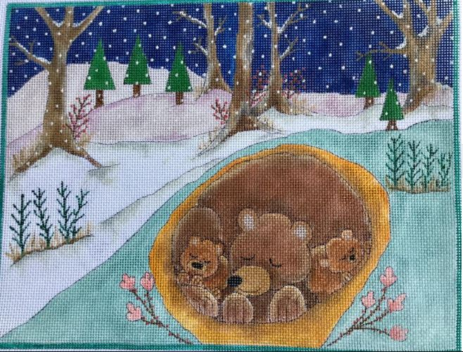click here to view larger image of A Long Winters Nap - Mother and Cubs (hand painted canvases)