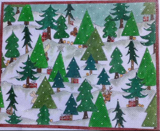 click here to view larger image of Christmas Tree Forest, The (hand painted canvases)