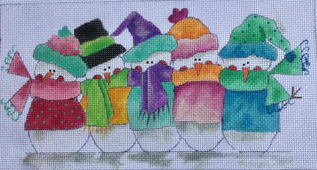 click here to view larger image of 5 Little Frosty Friends (hand painted canvases)