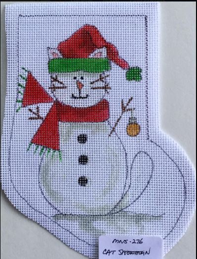 click here to view larger image of Cat Snowman (hand painted canvases)