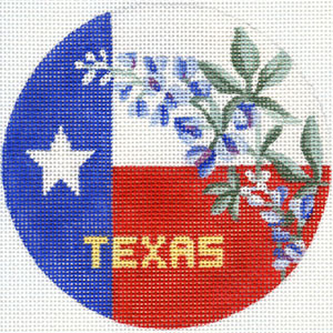 click here to view larger image of Texas Lone Star with Bluebonnets (hand painted canvases)