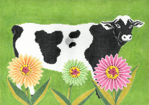 click here to view larger image of Petal Pushers - Cow (hand painted canvases)