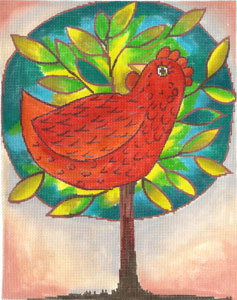 click here to view larger image of Chicken in a Tree (hand painted canvases)