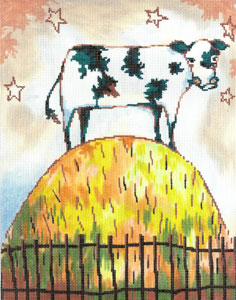 click here to view larger image of Cow on a Hill (hand painted canvases)