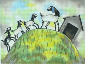 click here to view larger image of Goats on a Hill (hand painted canvases)