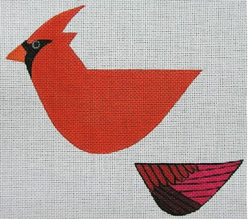 click here to view larger image of 3D Cardinal (hand painted canvases)