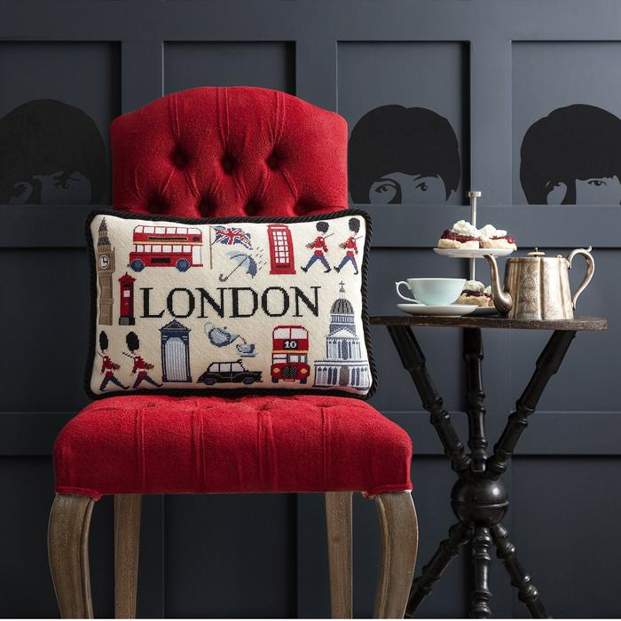 click here to view larger image of London Pillow (needlepoint kits)