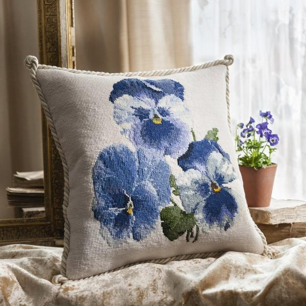 click here to view larger image of Pansies (needlepoint kits)