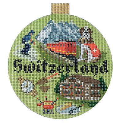 Travel Round - Switzerland hand painted canvases