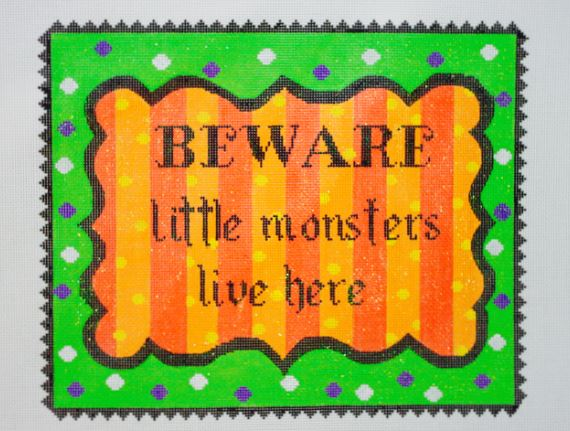click here to view larger image of Beware (hand painted canvases)