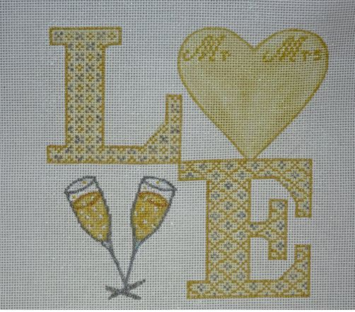 click here to view larger image of LOVE - Wedding (hand painted canvases)